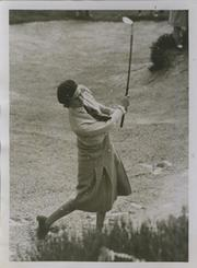 MRS ANDREW HOLM 1933 GOLF PHOTOGRAPH