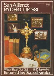 RYDER CUP 1981 (WALTON HEATH) OFFICIAL PROGRAMME