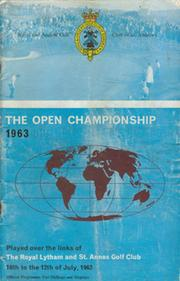 OPEN CHAMPIONSHIP 1963 (ROYAL LYTHAM AND ST. ANNES) GOLF PROGRAMME