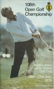 OPEN CHAMPIONSHIP 1979 (ROYAL LYTHAM & ST ANNES) GOLF PROGRAMME