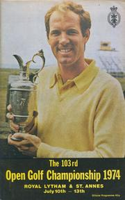 OPEN CHAMPIONSHIP 1974 (ROYAL LYTHAM & ST. ANNES) GOLF PROGRAMME