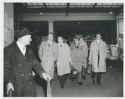FULHAM PLAYERS RETURNING FROM F.A. CUP SEMI-FINAL 1958 FOOTBALL PHOTOGRAPH