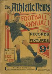 ATHLETIC NEWS FOOTBALL ANNUAL 1927-28