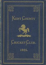 KENT COUNTY CRICKET CLUB 1921 [BLUE BOOK]