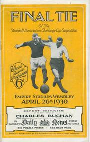 ARSENAL V HUDDERSFIELD TOWN 1930 (F.A. CUP FINAL) FOOTBALL PROGRAMME