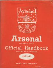 ARSENAL FOOTBALL CLUB 1952-53 OFFICIAL HANDBOOK