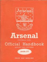 ARSENAL FOOTBALL CLUB 1956-57 OFFICIAL HANDBOOK
