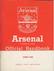 ARSENAL FOOTBALL CLUB 1965-66 OFFICIAL HANDBOOK