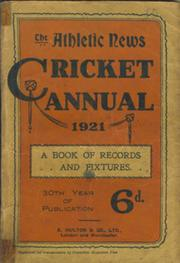 ATHLETIC NEWS CRICKET ANNUAL 1921
