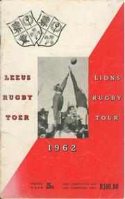 BRITISH LIONS TOUR TO SOUTH AFRICA 1962 BROCHURE