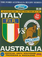AUSTRALIA V ITALY (1ST TEST) 1994 RUGBY PROGRAMME