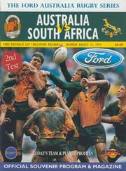 AUSTRALIA V SOUTH AFRICA (2ND TEST) 1993 RUGBY PROGRAMME