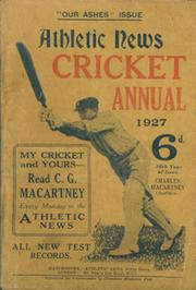 ATHLETIC NEWS CRICKET ANNUAL 1927