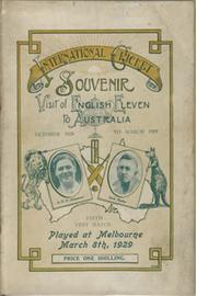 AUSTRALIA V ENGLAND 1928-29 (MELBOURNE - 5TH TEST) CRICKET PROGRAMME
