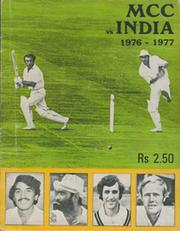 ENGLAND TOUR TO INDIA 1976-77 OFFICIAL TOUR BROCHURE