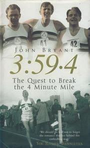 3:59.4 - THE QUEST TO BREAK THE FOUR-MINUTE MILE