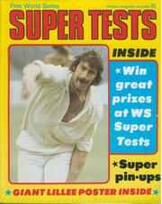 GIANT DENNIS LILLEE POSTER 1977 - FIRST WORLD SERIES SUPER TESTS