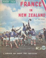 FRANCE IN NEW ZEALAND 1968 RUGBY TOUR BROCHURE