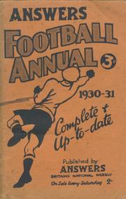 ANSWERS FOOTBALL ANNUAL 1930-31
