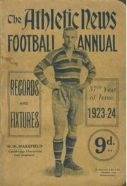 ATHLETIC NEWS FOOTBALL ANNUAL 1923-24