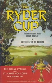 RYDER CUP 1961 (ROYAL LYTHAM & ST ANNES) OFFICIAL PROGRAMME