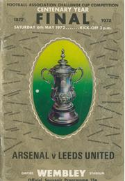 ARSENAL V LEEDS UNITED 1972 (F.A. CUP FINAL) FOOTBALL PROGRAMME