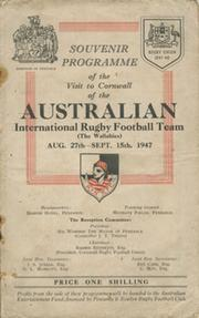 AUSTRALIAN RUGBY TEAM (WALLABIES) 1947 - SOUVENIR PROGRAMME OF THE VISIT TO CORNWALL