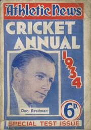 ATHLETIC NEWS CRICKET ANNUAL 1934