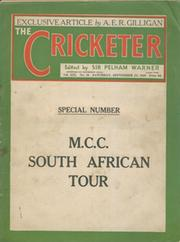 ENGLAND CRICKET TOUR OF SOUTH AFRICA 1938-39 - SOUVENIR ISSUE OF THE CRICKETER