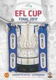 MANCHESTER UNITED V SOUTHAMPTON 2017 LEAGUE CUP FINAL FOOTBALL PROGRAMME