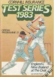 ENGLAND V NEW ZEALAND 1983 3RD TEST (THE OVAL) CRICKET PROGRAMME