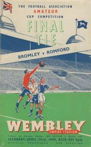 BROMLEY V ROMFORD 1949 (AMATEUR CUP FINAL) FOOTBALL PROGRAMME