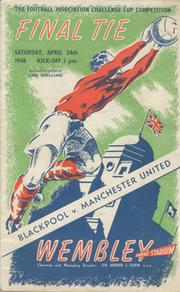 BLACKPOOL V MANCHESTER UNITED 1948 (F.A. CUP FINAL) FOOTBALL PROGRAMME