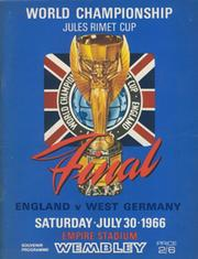 ENGLAND V WEST GERMANY 1966 WORLD CUP FINAL FOOTBALL PROGRAMME