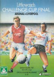 ARSENAL V LIVERPOOL 1987 (LITTLEWOODS CUP FINAL) FOOTBALL PROGRAMME