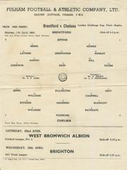 BRENTFORD V CHELSEA 1949-50 (LONDON CHALLENGE CUP FINAL) FOOTBALL PROGRAMME