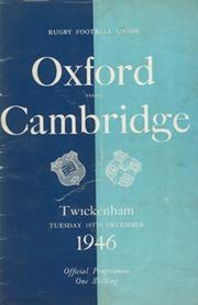 OXFORD V CAMBRIDGE 1946 RUGBY PROGRAMME