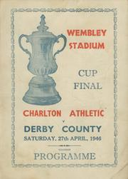 CHARLTON ATHLETIC V DERBY COUNTY 1946 (FA CUP FINAL) SOUVENIR FOOTBALL PROGRAMME
