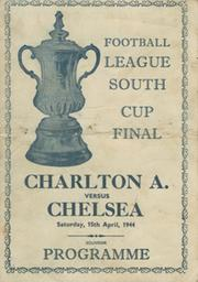 CHARLTON ATHLETIC V CHELSEA 1944 (FOOTBALL LEAGUE SOUTH CUP FINAL) SOUVENIR FOOTBALL PROGRAMME