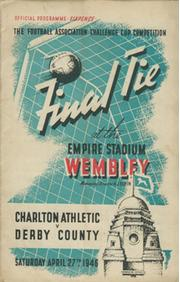 CHARLTON ATHLETIC V DERBY COUNTY 1946 (F.A. CUP FINAL) FOOTBALL PROGRAMME