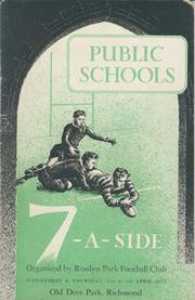 PUBLIC SCHOOLS 7-A-SIDE 1952 RUGBY UNION PROGRAMME