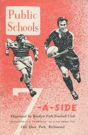 PUBLIC SCHOOLS 7-A-SIDE 1951 RUGBY UNION PROGRAMME
