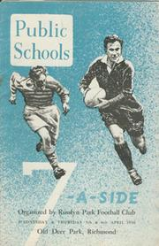 PUBLIC SCHOOLS 7-A-SIDE 1950 RUGBY UNION PROGRAMME