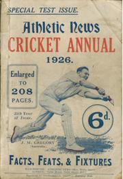 ATHLETIC NEWS CRICKET ANNUAL 1926