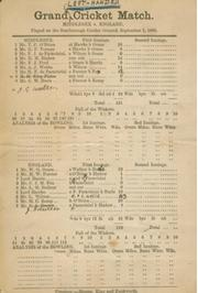 MIDDLESEX V ENGLAND 1888 (SCARBOROUGH) - LEFT-HANDED MATCH. CRICKET SCORECARD (INCLUDING W.G. GRACE)