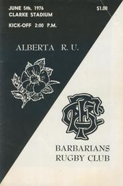 ALBERTA V BARBARIANS 1976 SIGNED RUGBY PROGRAMME
