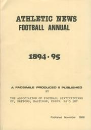 ATHLETIC NEWS FOOTBALL ANNUAL 1894-95 (FACSIMILE EDITION)