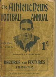 ATHLETIC NEWS FOOTBALL ANNUAL 1921-22