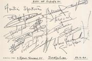 REST OF EUROPE XV (V HOME NATIONS) 1990 RUGBY AUTOGRAPHS