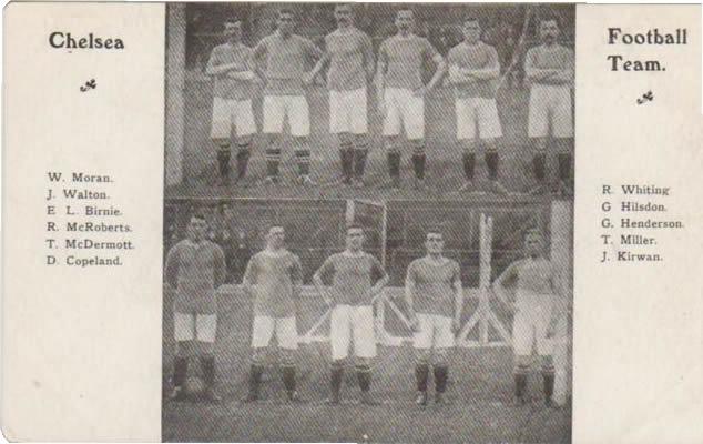 CHELSEA FC 1906 FOOTBALL POSTCARD - Football Teams Postcards ...